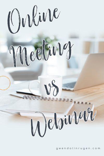 Online Meeting vs Webinar